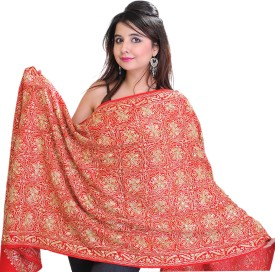 Exotic India With Sequins Wool Embroidered Women's Shawl