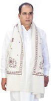 Little India Wool Self Design Men's Shawl