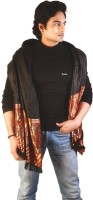 Home India Double Paisley n Chequered Reversible Men Shawl 157 Wool Self Design Men's Shawl