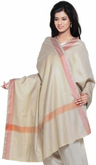 Indigocart Ethnic Cashmilon Square Pattern Shawl 149 Wool Self Design Women's Shawl