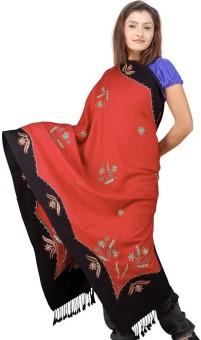 Indigocart Hand Kashmiri Woolen Shawl 124 Wool Self Design Women's Shawl