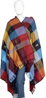 Indigocart Traditionally Weaved Kashmiri Shawl 135 Wool Self Design Women's Shawl