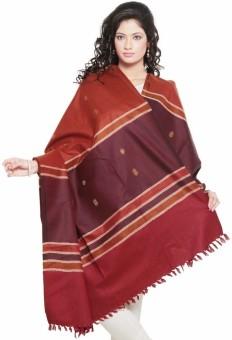 Little India Booti Design Cashmilon Warm Shawl 156 Wool Self Design Women's Shawl
