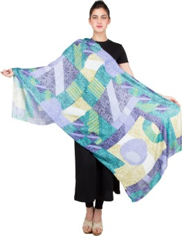 KeepSake Poly Cotton Graphic Print Women's Shawl - SWLEBHCMFN7ZMZ5T