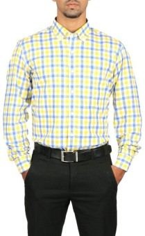 Stop To Start Men's Checkered Formal Shirt