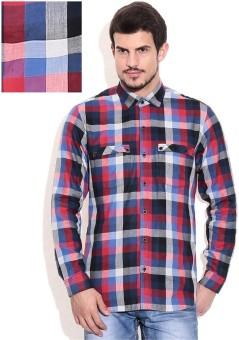 Bolt Double Pocket Men's Checkered Casual Shirt