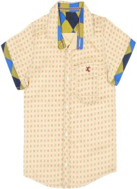 CALCULUS Baby Boy's Printed Casual Beige Shirt