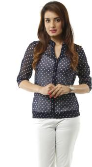 Lynda Stylish Women's Polka Print Casual Shirt