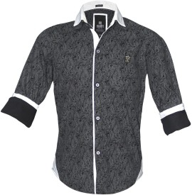 Fingerchips Boy's Paisley Party Black, White Shirt