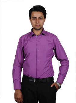 The Mods Semi-Formal Purple Shirt Men's Solid Casual, Party, Lounge Wear Shirt