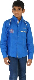Fuzion Boy's Solid Casual Blue Shirt