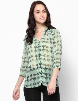 Femella DS-46768-223 Women's Solid Casual Shirt