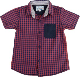 Biker Boys Boy's Checkered Casual Shirt