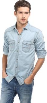 Basics Trendy Slim Fit Men's Solid Casual Shirt