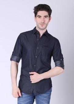 Compare Locomotive Men Solid Casual Shirt: Shirt at Compare Hatke
