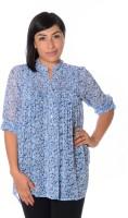 Urban Religion Women's Floral Print Casual Shirt - SHTDWPYW89ZXHNSV