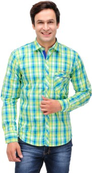 Finder Zone Men's Checkered Casual Shirt