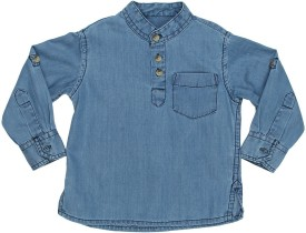 Chirpie Pie By Pantaloons Baby Boy's Solid Formal Denim Shirt