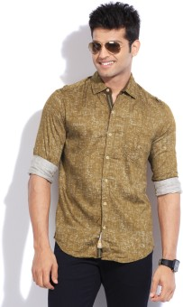 The Indian Garage Co. Men's Solid Casual Shirt