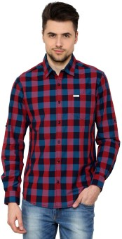 The Indian Garage Co. Men's Checkered Casual Shirt