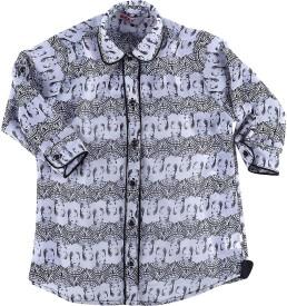 MCKY Girl's Printed Casual Shirt
