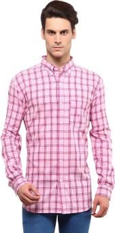 Yepme Men's Checkered Casual Pink Shirt