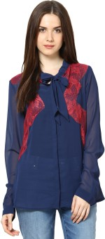 L'Elegantae Women's Solid Party Shirt - SHTE2PNYHWBQJBBB