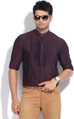 Blackberrys Blackberrys Men's Solid Party Shirt (Maroon)