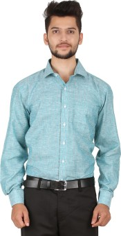 Stylo Shirt Men's Striped Formal Green Shirt