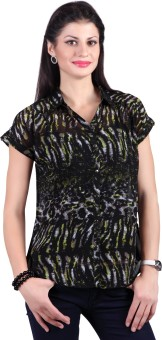 Haute Curry Leopard Print Women's Printed, Woven Casual Shirt Women's Printed, Woven Casual Shirt