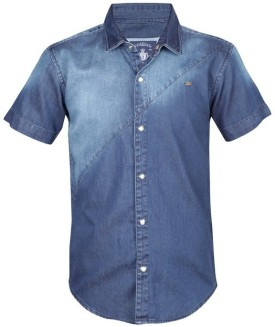 Gini & Jony Boy's Solid Casual Blue Shirt - SHTEFURW8QCJADNX
