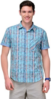 Yepme Men's Checkered, Floral Print Casual Shirt