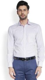 Raymond Men's Striped Formal Purple Shirt