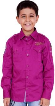 OKS Boys Boy's Solid Casual Shirt