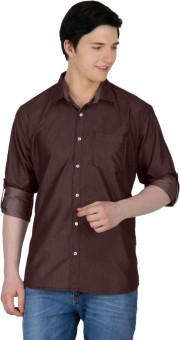 GHPC Men's Solid Casual Shirt