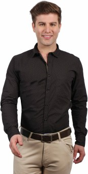 Solemio Men's Printed Formal, Casual Shirt