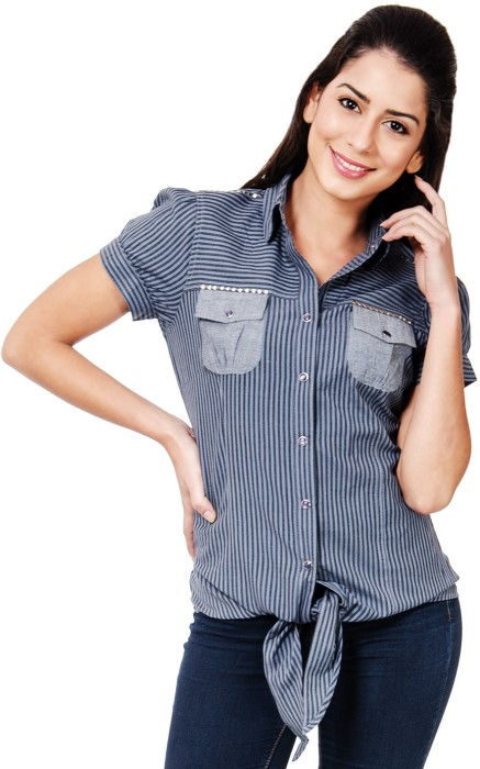 Rue 18 Women's Striped Casual Shirt