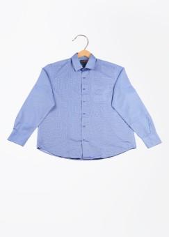 Peter England Men's Self Design Formal Shirt