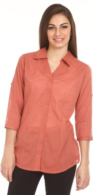Mustard Mustard Women's Solid Casual Shirt (Multicolor)