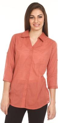 Mustard Mustard Women's Solid Casual Shirt (Multicolor)