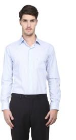 Kingswood Men's Striped Formal Light Blue Shirt