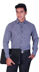 Cotton King Men's Striped Formal Multicolor Shirt