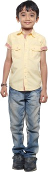 Stop To Start By Shoppers Stop Boy's Solid Casual Shirt