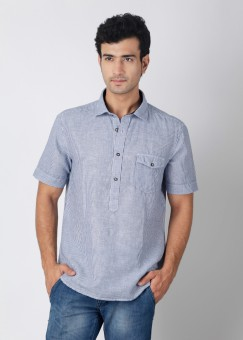 Compare Indian Terrain Men Striped Casual Shirt: Shirt at Compare Hatke