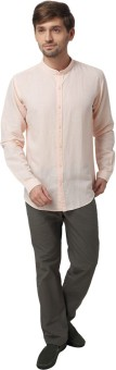 Urban Attire Men's Solid Casual Linen Shirt