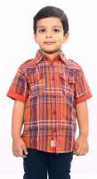 Bio Kid Short Sleeve Baby Boy's Checkered Casual Shirt - SHTE4DHFFHQZJGBK