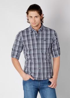 Compare Wrangler Men Checkered Casual Shirt: Shirt at Compare Hatke