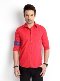 Rodid Men's Solid Casual Red Shirt