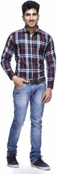 Jads Men's Checkered Casual, Lounge Wear, Party Shirt