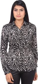 Mallika Monochrome Women's Graphic Print Casual Shirt
